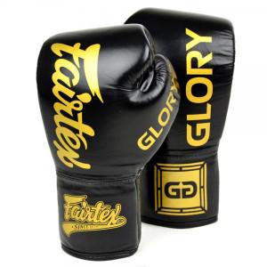 Боксерские перчатки Fairtex Glory Black, шнуровка, 16 OZ Fairtex